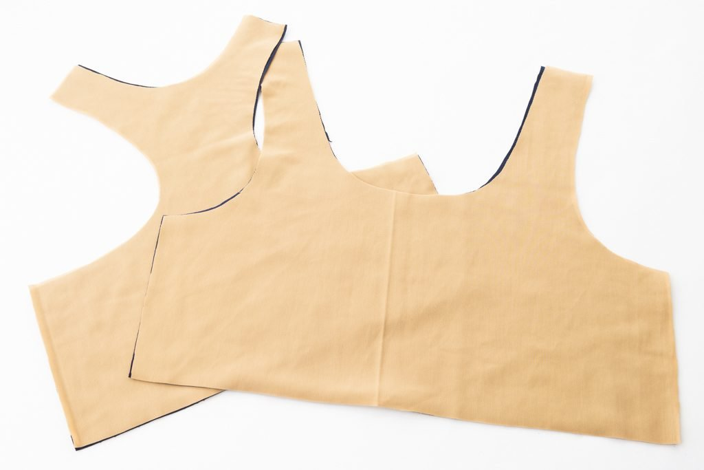 How to Line a Sports Bra - www.sewingnovice.com